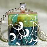 Batik Swirls Scrabble Tile ..