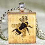 Queen Bee Scrabble Pendant ..