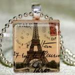 Eiffel Tower Scrabble Penda..