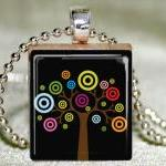 Colorful Tree Scrabble Pend..