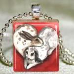 Love Bunnies Scrabble Penda..
