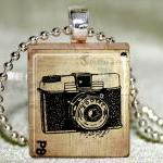 Camera Scrabble Pendant wit..