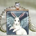 Angel Bunny Scrabble Pendan..