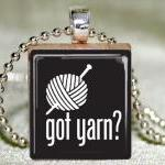Got Yarn Scrabble Pendant w..