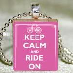 Keep Calm and Ride On (Pink..