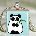 Panda Scrabble Pendant with..