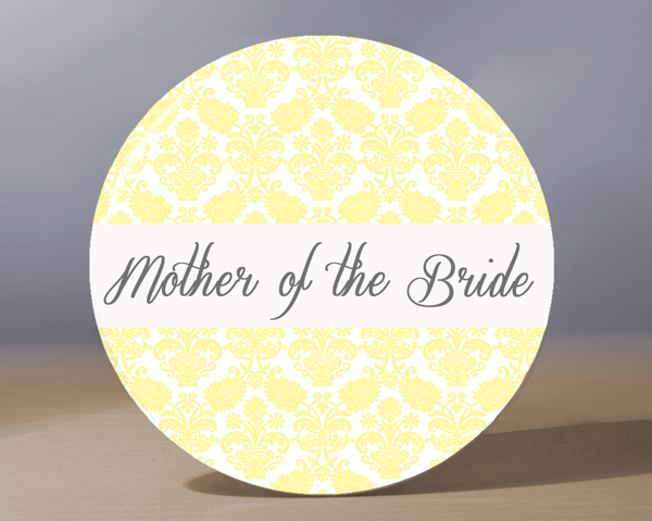 Pocket Mirror - Mother of the Bride Pocket Mirror - Pale Yellow